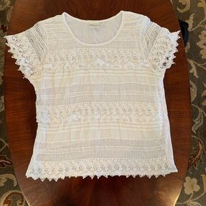 Women's white laced shirt